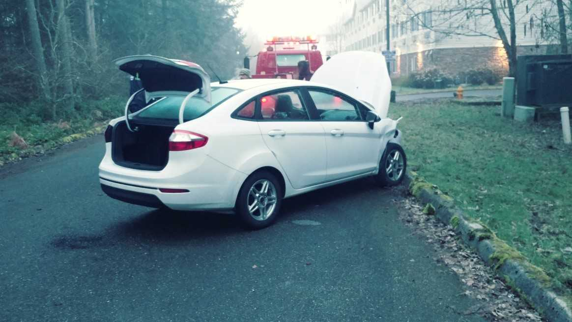 The rental car a murder suspect used to try to escape sheriff's deputies (Photo: Thurston County Sheriff's Office)