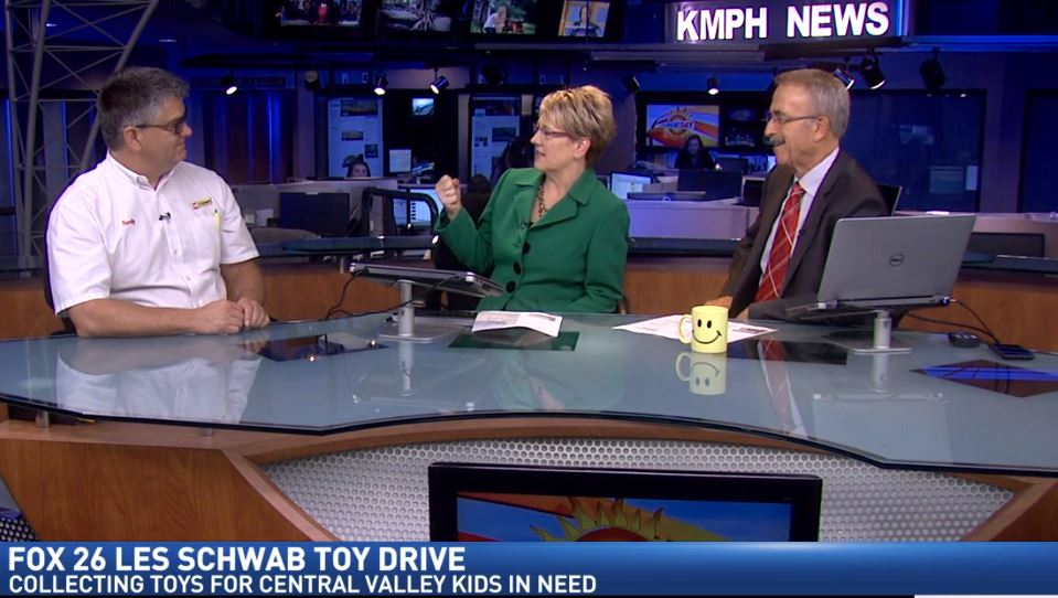 Les Schwab Tires Area Manager Randy Hecker on Great Day to talk about the toy drive