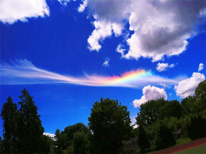 Fire Rainbow as seen over Corvallis High School. (Photo: YouNews Contributor GreenGoddess)
