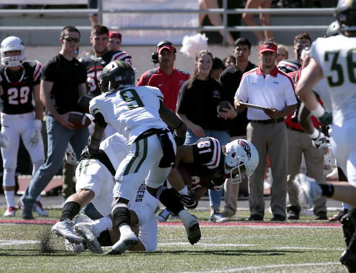 Southern Oregon University football versus Rocky Mountain. [ // PHOTOS BY: LARRY STAUTH JR]