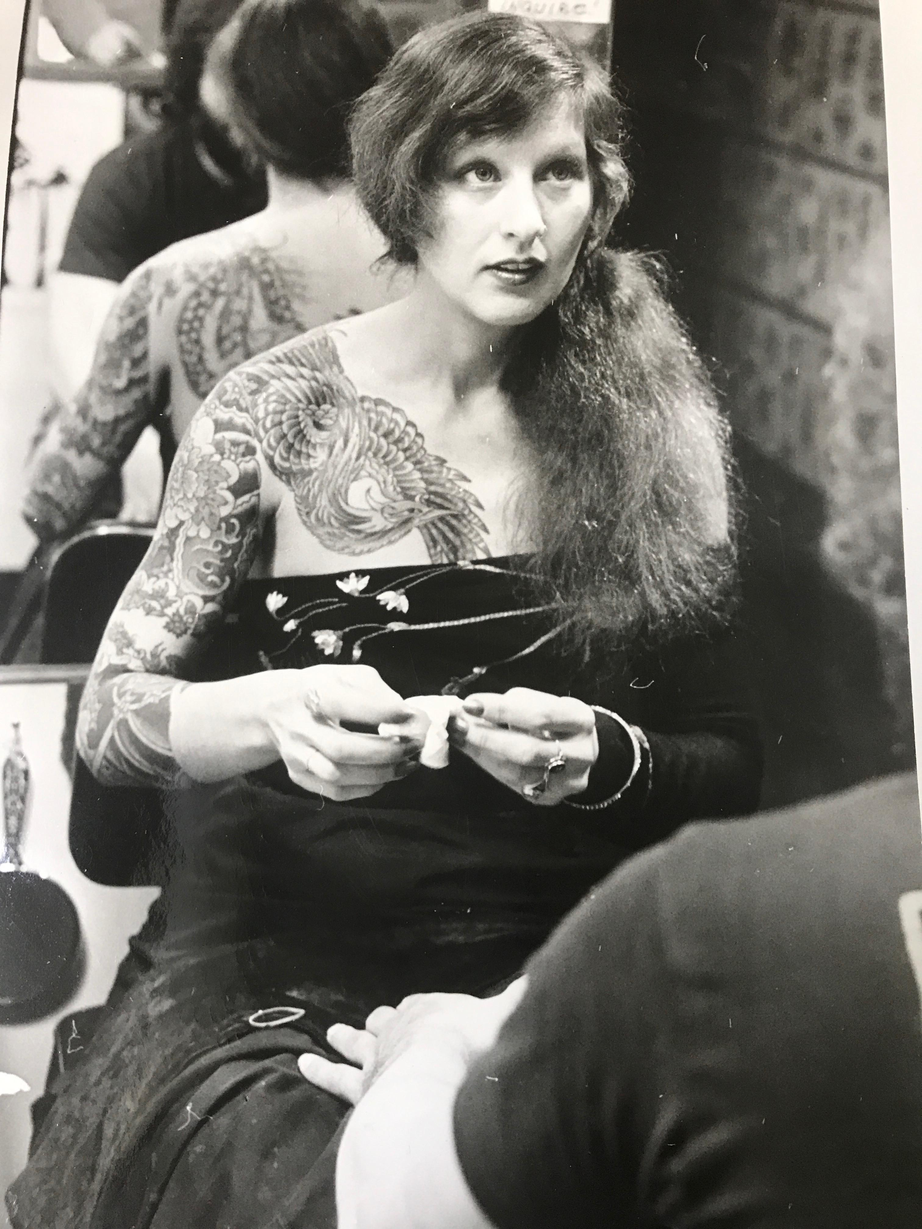 "In 1978 Vyvyn ""Madame"" Lazonga was awarded ""Best Tattooed Female"" from the North American Tattoo Club. (Image: Vyvyn Lazonga)"