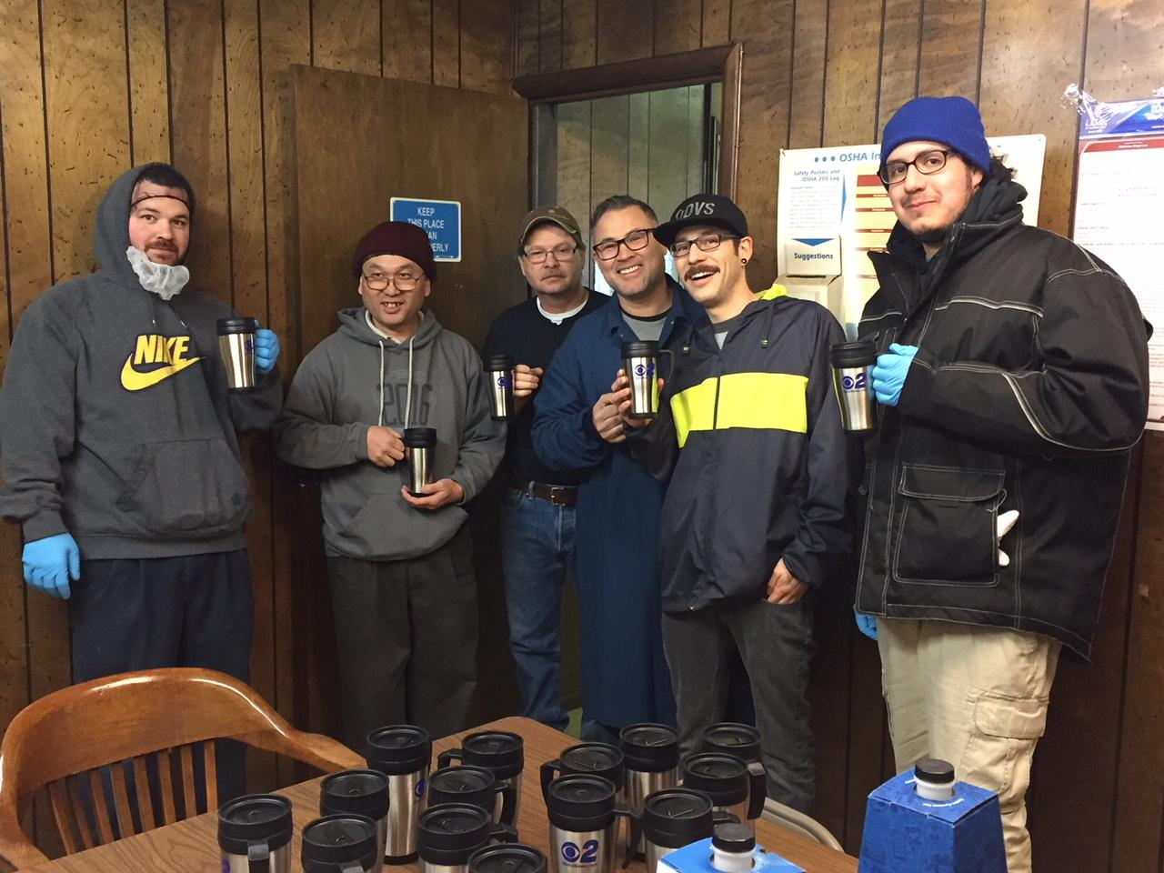 Mugshot Mondays: This week's winner is Ocean Beauty Seafoods in Boise! We helped deliver free Dutch Bros. Coffee and KBOI mugs! Want your business to be next? Enter: http://bit.ly/1UoKo3X