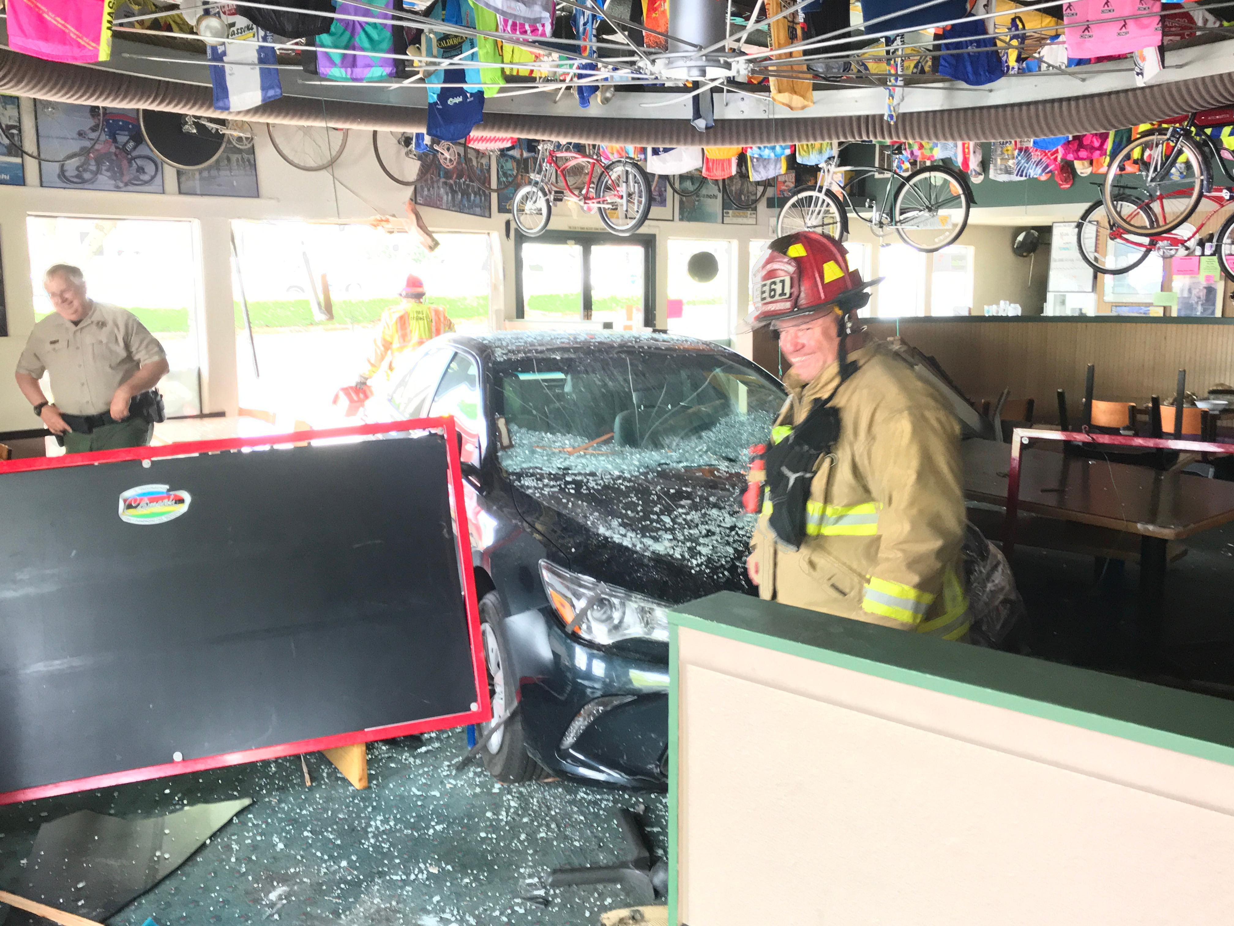 Driver crashes into Hazel Dell pizza shop - Clark County Fire District image - 1.jpg