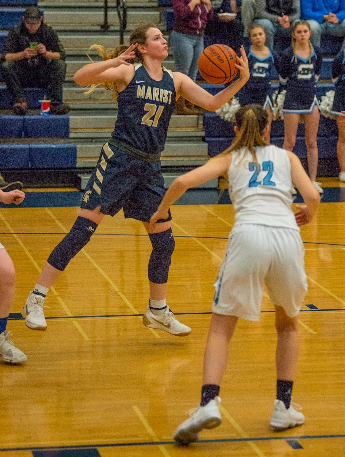The Springfield Millers handed the Marist Spartans their first conference loss of the season, 40-37. Both Springfield and Marist are now tied for 1st place in the Midwestern League. (Photo courtesy of Dan Morrison, Oregon News Lab).<p></p>