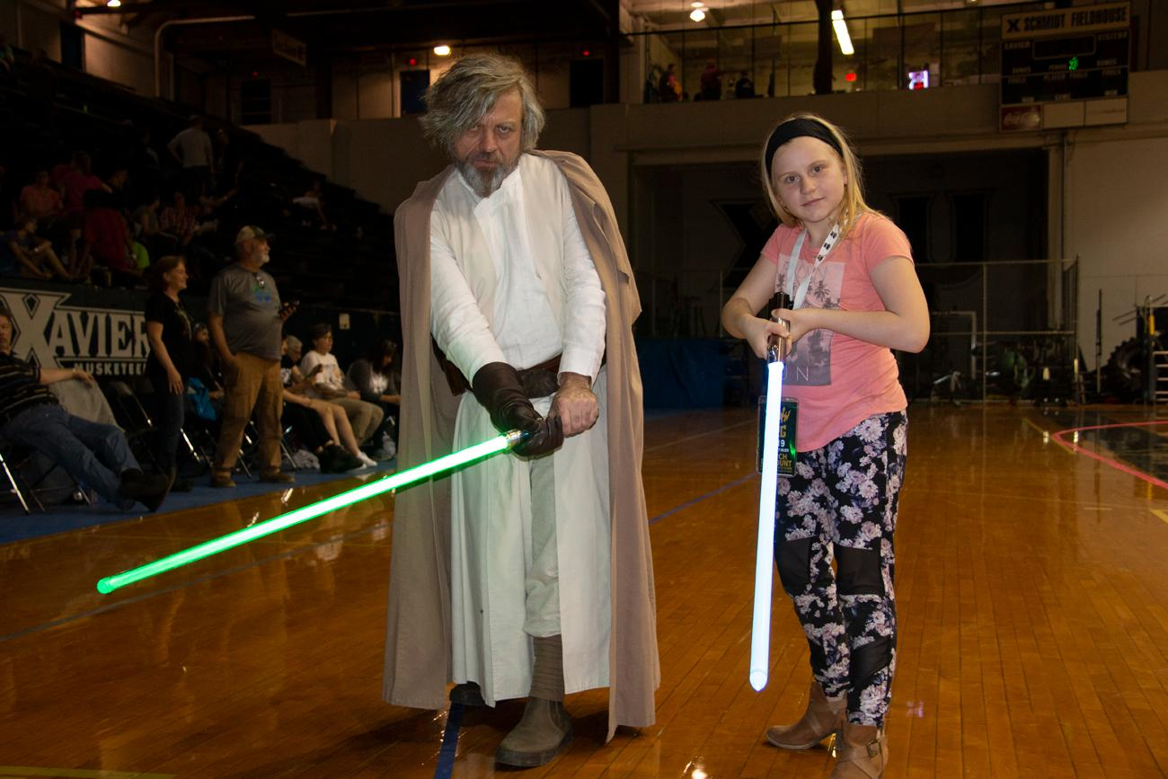 Cincinnati Rollergirls' Star Wars Night: Episode V skated furiously around the Schmidt Memorial Fieldhouse at Xavier University on Saturday, April 27. The Cincinnati Rollergirls Black Sheep took on the Charm City All-Stars of Baltimore first, then the Violent Lambs played the Female Trouble afterward. Appearances by costumed look-alikes from Star Wars added to the night of fun. A costume contest at halftime left the winner with free Cincinnati Rollergirl merch. The event was appropriate for all ages. For upcoming Rollergirl events, check out CincinnatiRollergirls.com for the 2019 schedule. / Image: Dr. Richard Sanders // Published: 4.28.19