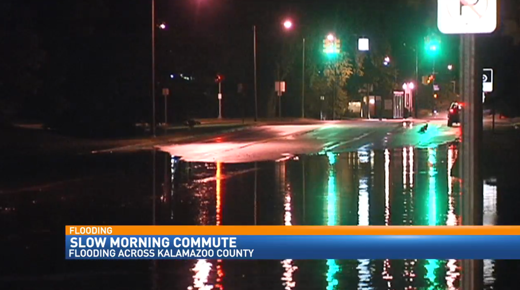 Flooding in Kalamazoo made for a slow morning commute as people had to find alternate routes.
