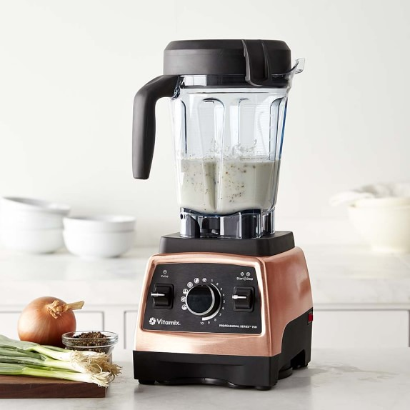 <p>The Vitamix Pro 750 Heritage blender from Williams-Sonoma has all the power and functionality of the Pro 750 but in a copper finish. The super fast and efficient blender holds 64-oz and is hand built in the USA. The copper finish adds a nice touch to any cook's kitchen. (Image: Williams-Sonoma){&amp;nbsp;}</p>