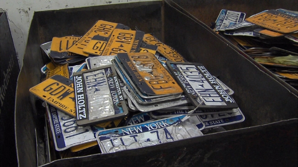 Nys dmv to replace peeling license plates for free wham for Medical motors rochester ny