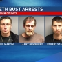 Three arrested in Putnam County meth bust, two children taken from home