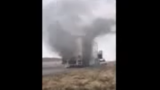 VIDEO: Semi-truck full of Shasta catches fire on I-15 in Weber County