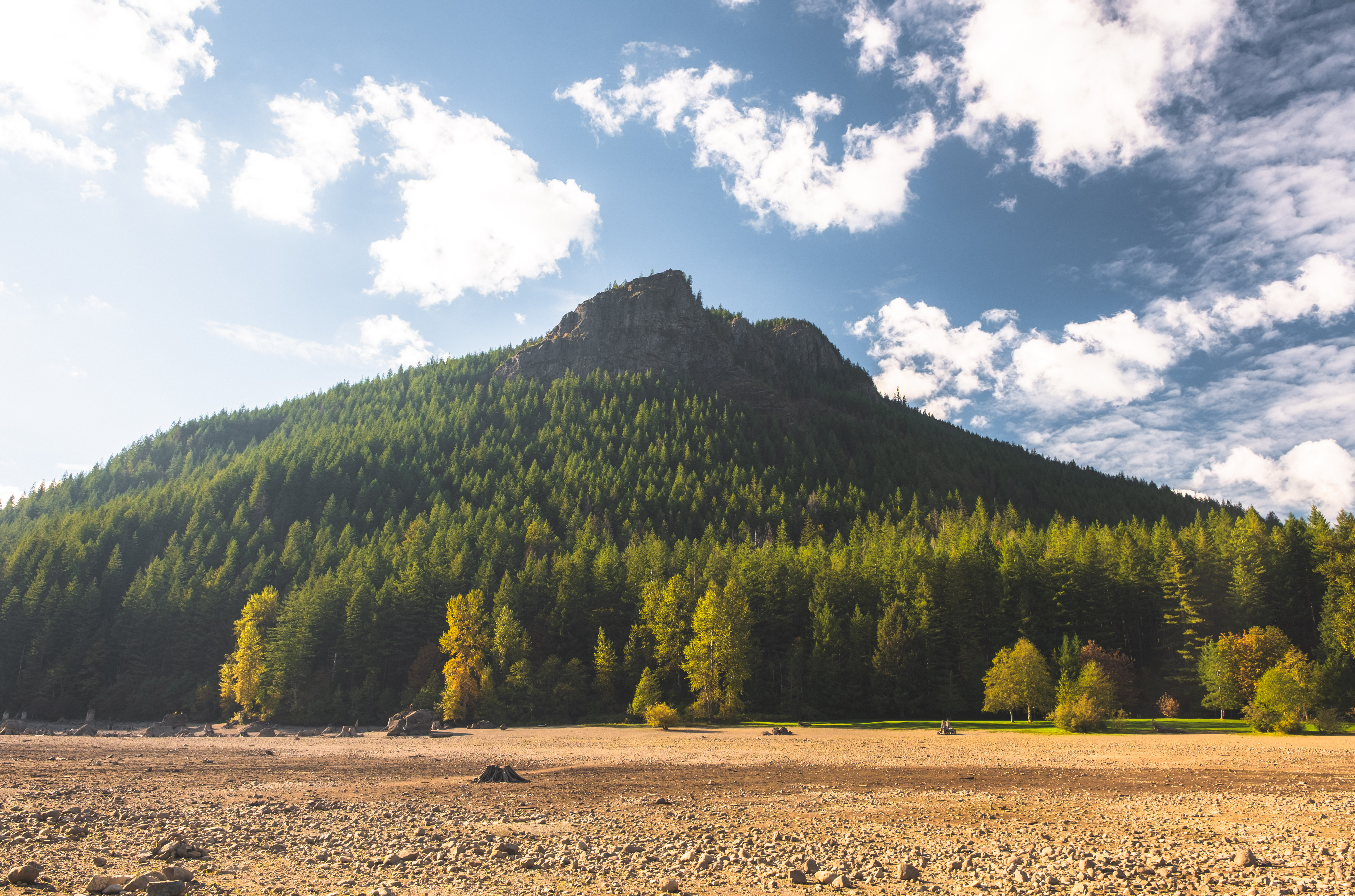 With stunning views of Mt. Si, Mt. Washington, Rattlesnake Lake, and Chest Morse Lake - Rattlesnake Ledge is quite possibly one of the best hikes near Seattle for its easy accessibility and moderate difficulty. Just under an hour from downtown Seattle, the hike is roughly{ }4{ }miles roundtrip, with a 1160 ft elevation gain. Come early to enjoy breathtaking views of light rays streaking through the trees as you hike up, or come later in the day to enjoy a wonderful sunset at the peak! (Image: Ryan{ }McBoyle{ }/ Seattle Refined)