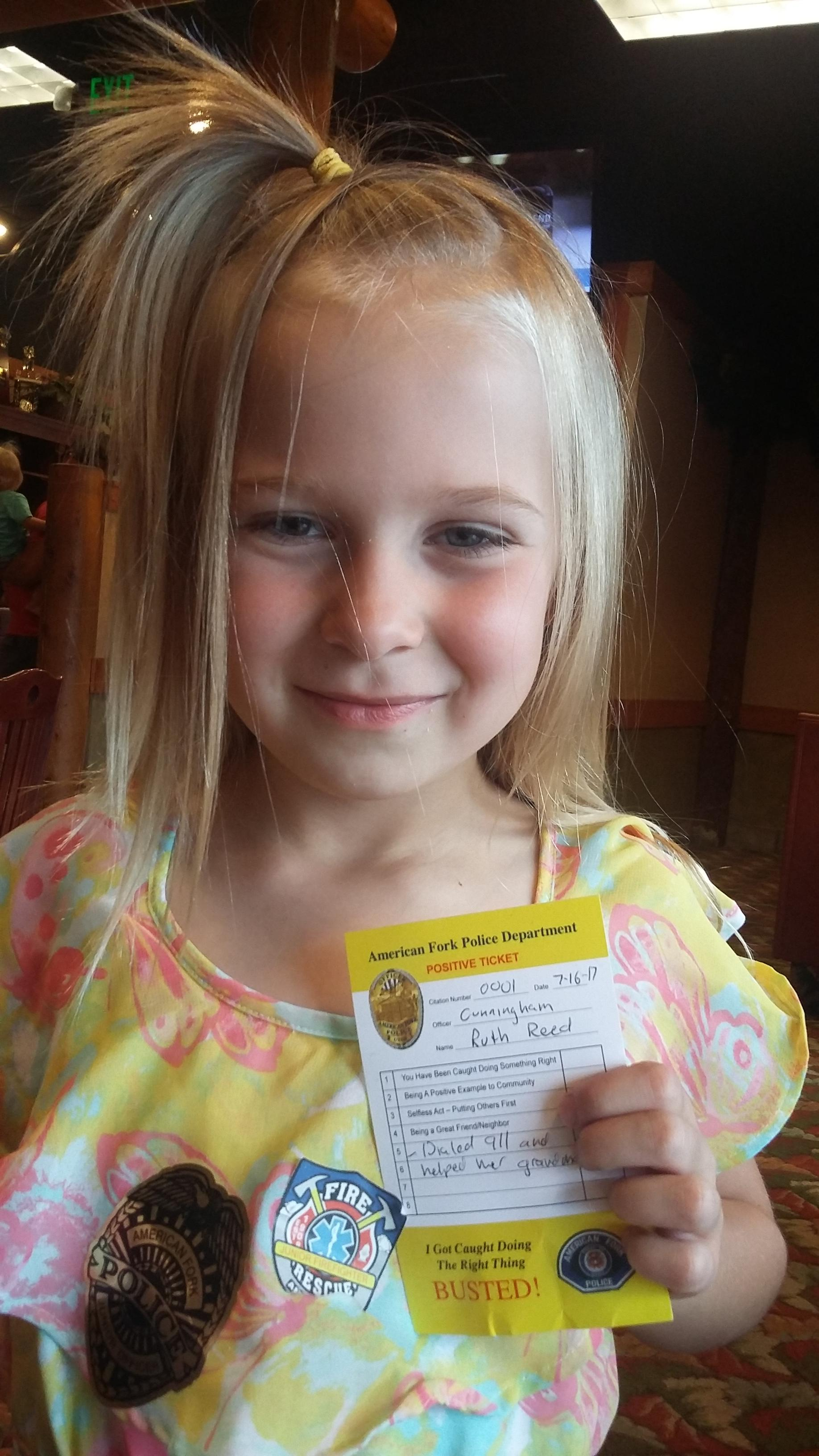 5-year-old girl hailed as hero after saving grandmother's life (Photo: Hannah Knowles / KUTV)