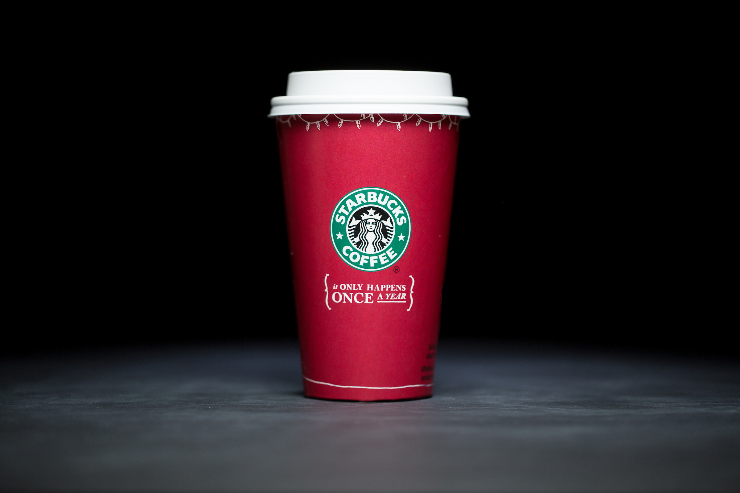 2005: For 20 years, Starbucks have released a range of holiday cup designs, most of them based around their world famous red cup. It's not easy to find the very first Starbucks holiday cups, which made their debut in stores in 1997. Few were saved, and electronic design files were lost in an earthquake in 2001. Even an Internet search is unyielding, with the cups having made their arrival long before the first selfie. But, we have them here! Click on for a photos of all 20 holidays cup designs. (Image: Joshua Trujillo/Cover Images)