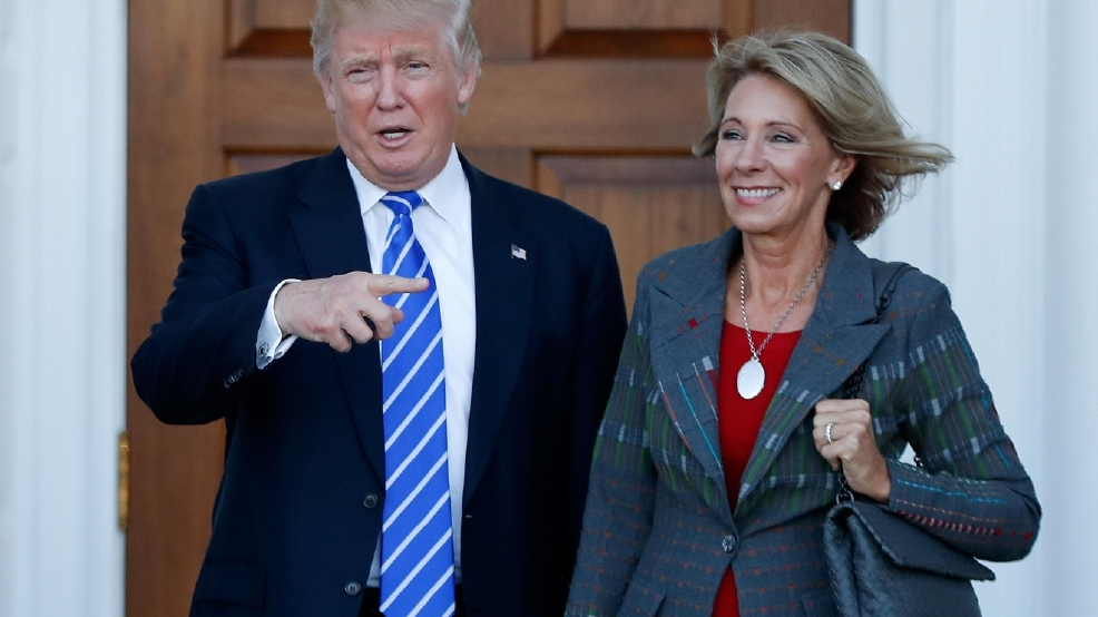 Recent Devos Hires Bode Ill For Student >> Devos To Push For School Choice Amid Opposition From Unions Wkef