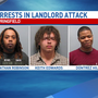 Three men accused of beating up landlord