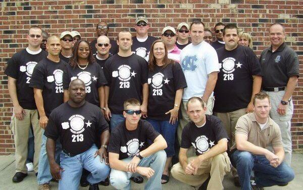 "Anthony ""TJ"" Freeman (front row, second from left) at Macon Police Department training / Courtesy of Darrin Marcus"