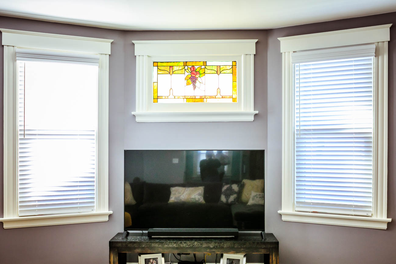 This beautiful stained glass window is original to the home. / Image: Amy Elisabeth Spasoff // Published: 3.13.18