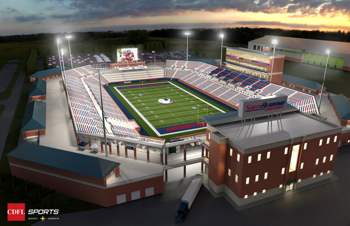 (image: USA) Proposal revealed for immediate construction of on-campus South Alabama football stadium