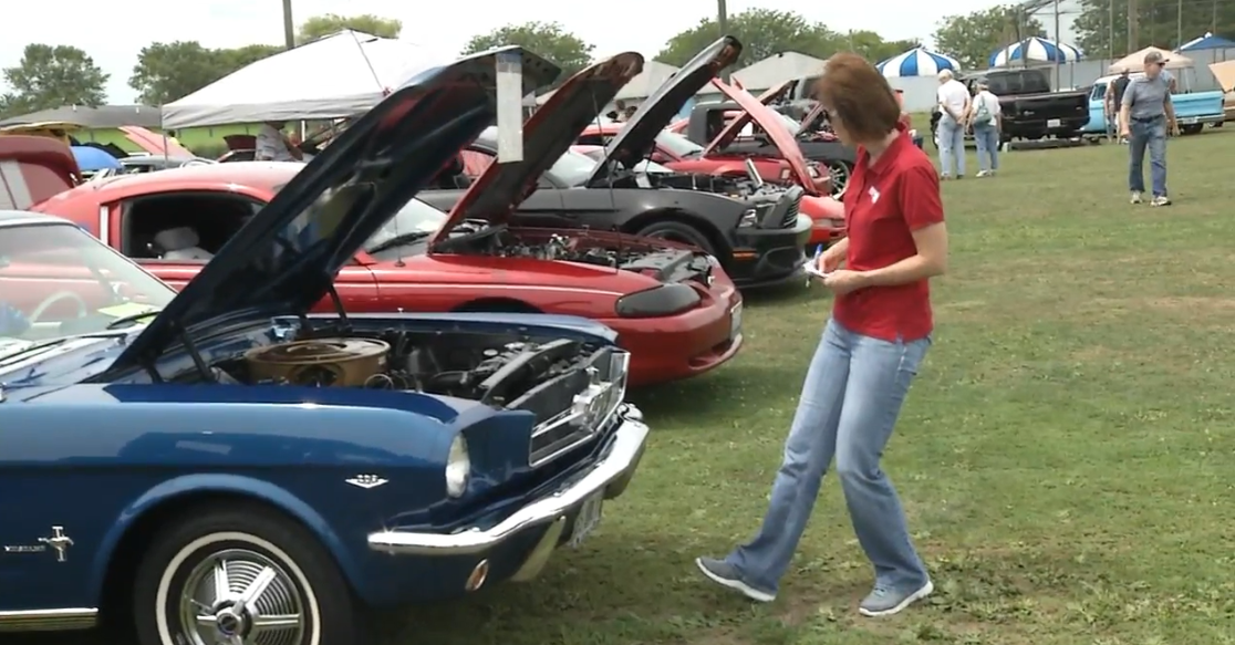 Breaking records, nearly 400 cars were on display at the Knight's Action Park. (WRSP)