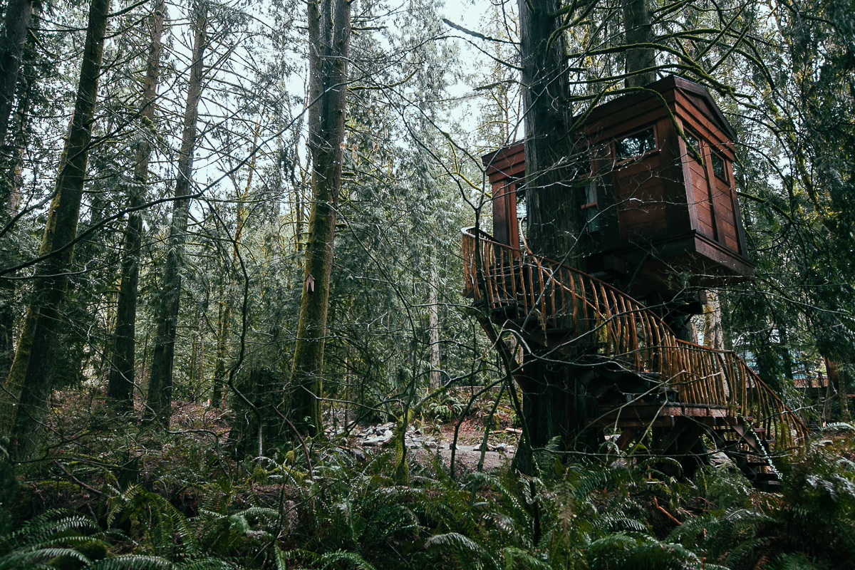 The Treehouse Point Resort is 24 miles east of Seattle, but you'll feel a world away from the city at this tranquil retreat. The Fall City site has six treehouses available for rent, and any of them would be perfect for a cozy couple's weekend.