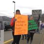 Kanawha County teachers look for support on busy Charleston road