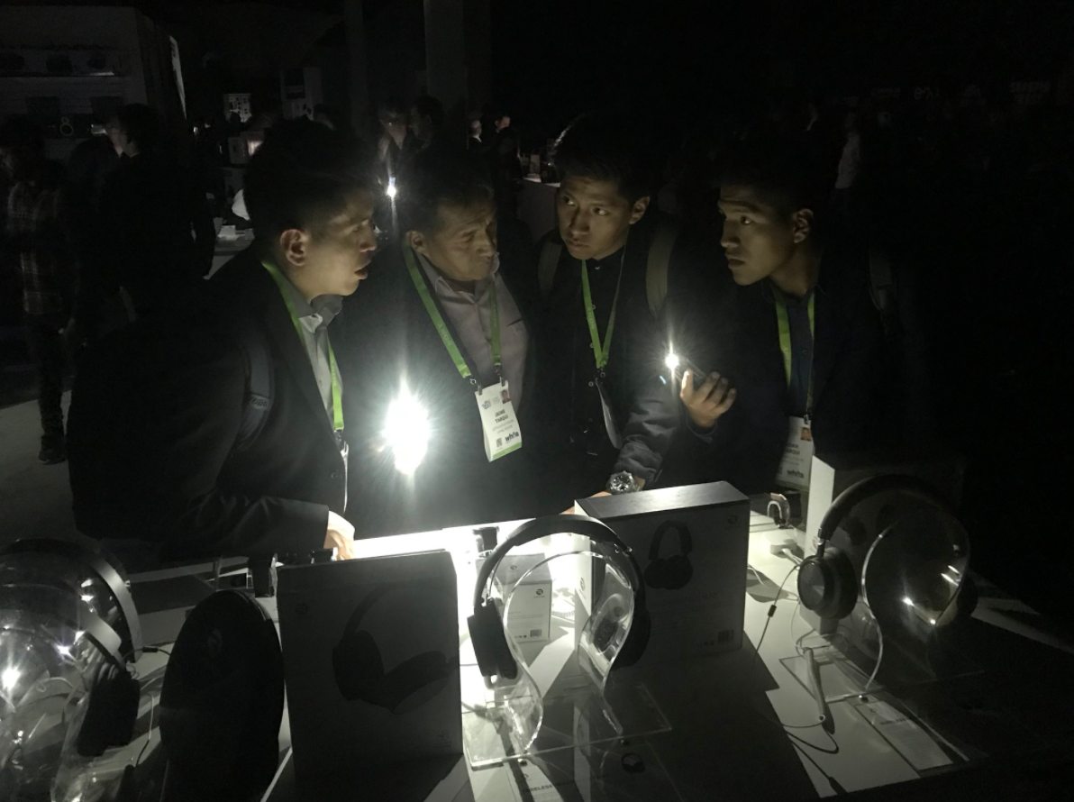 Attendees at the International Consumer Electronics Show were left in the dark after a power outage at the Las Vegas Convention Center on Wednesday. (Nathan O'Neal | KSNV)