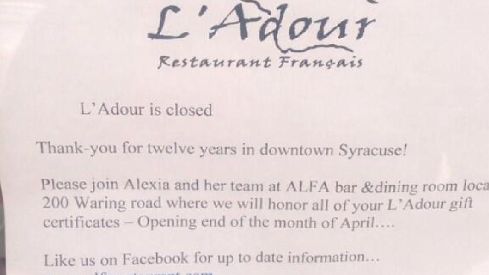 LAdour Restaurant Closes Its Doors For Good