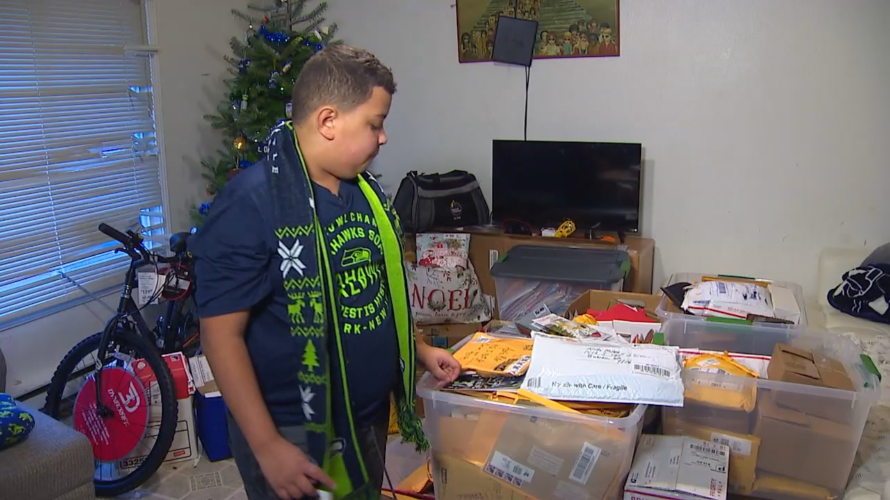 Holiday wish comes true: Thousands of Christmas cards sent to autistic boy (KOMO News)