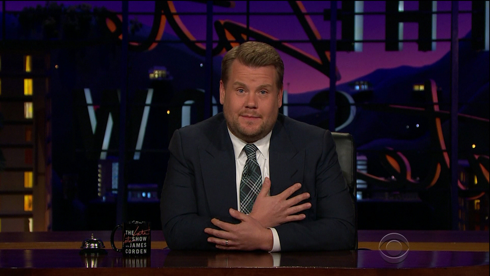 James Corden chokes up during emotional tribute to Manchester attack victims
