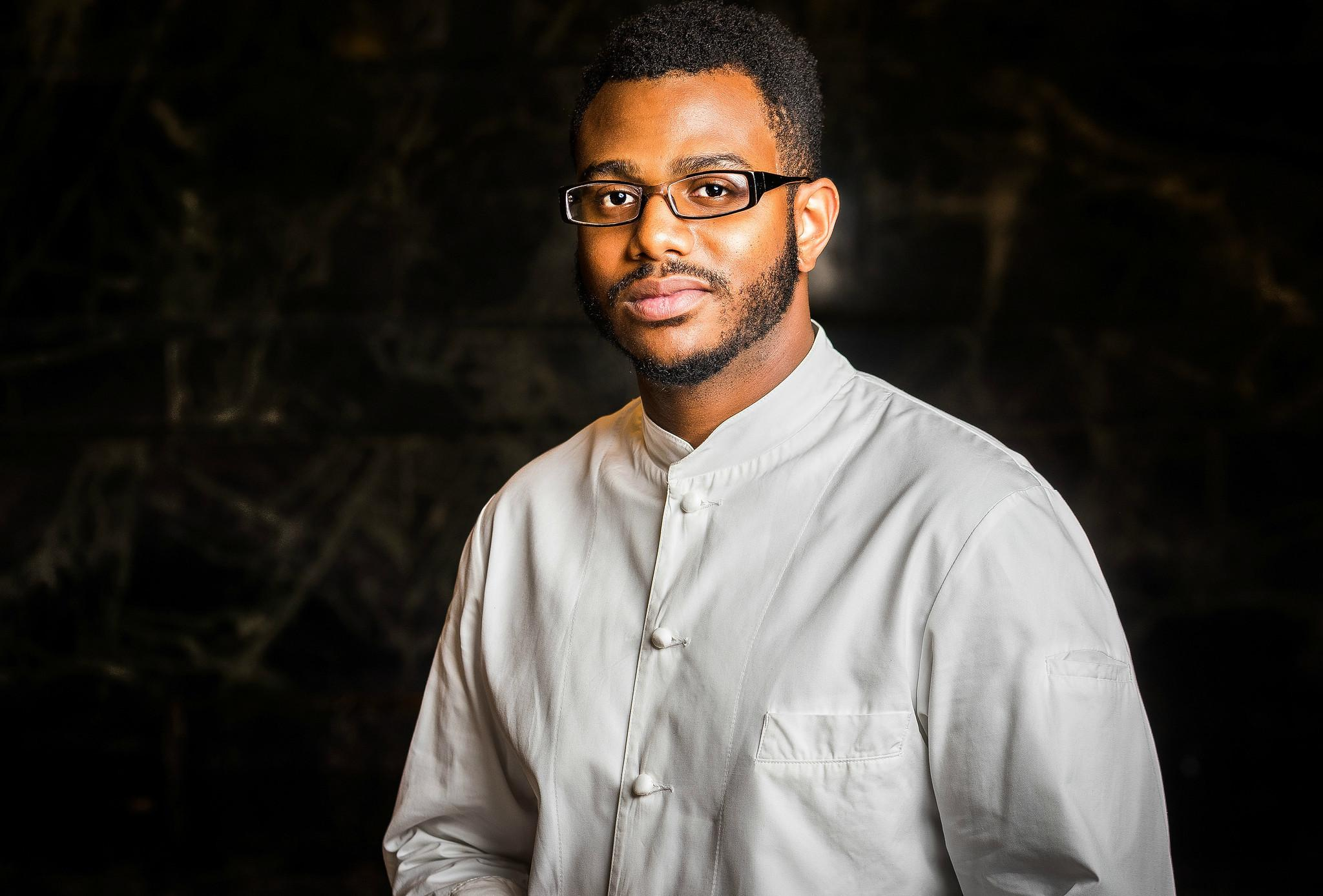 Kwame Onwuachi of Kith and Kin is a semifinalist for{ }Rising Star Chef of the Year. (Image: Rey Lopez)