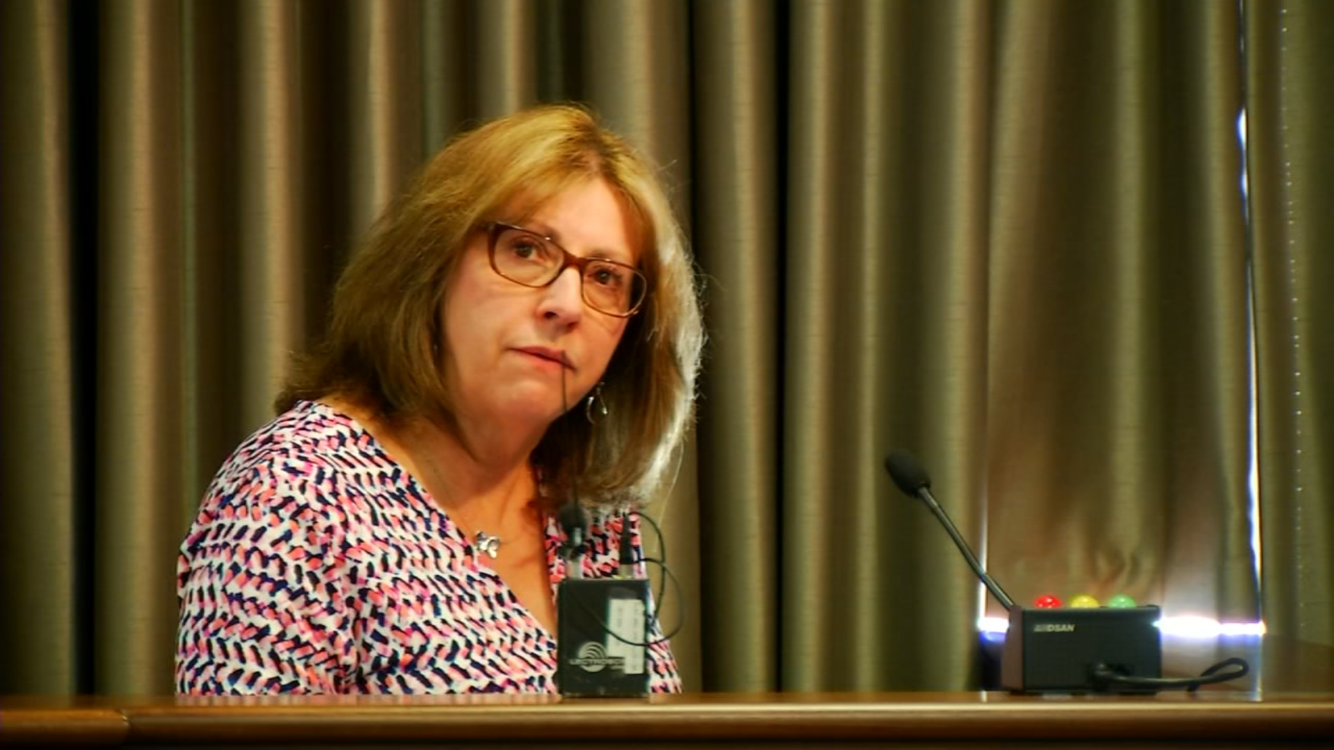 Wanda Greene retired as county manager on July 1.  (Photo credit: WLOS staff)