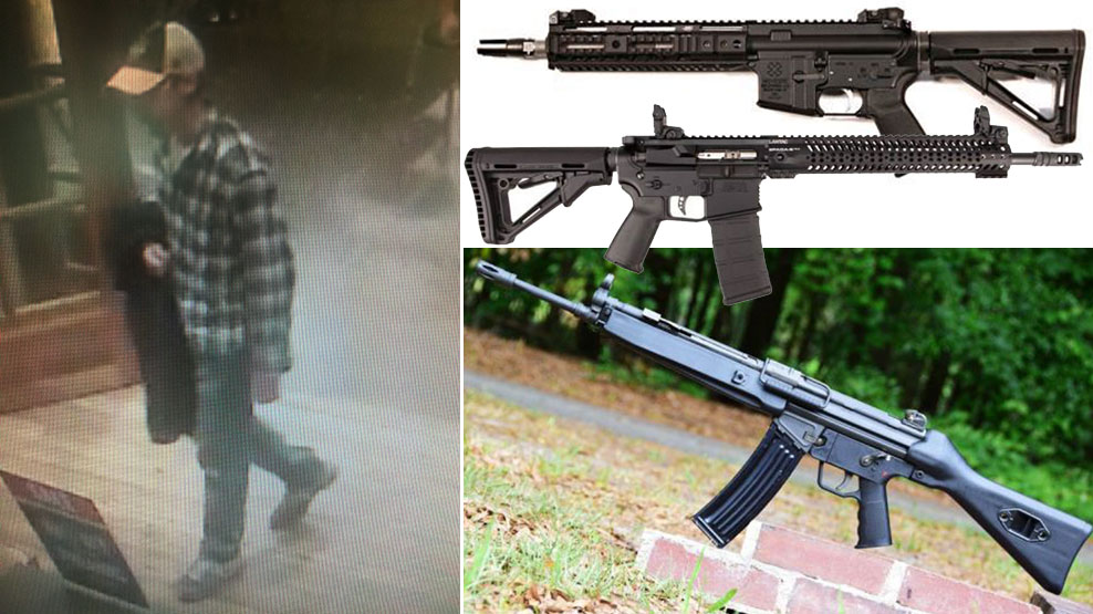 A man took assault rifles from Cabela's in Springfield on three separate occasions, Springfield Police said. (Images via Springfield Police)
