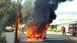 No one injured in pickup truck fire in south Reno