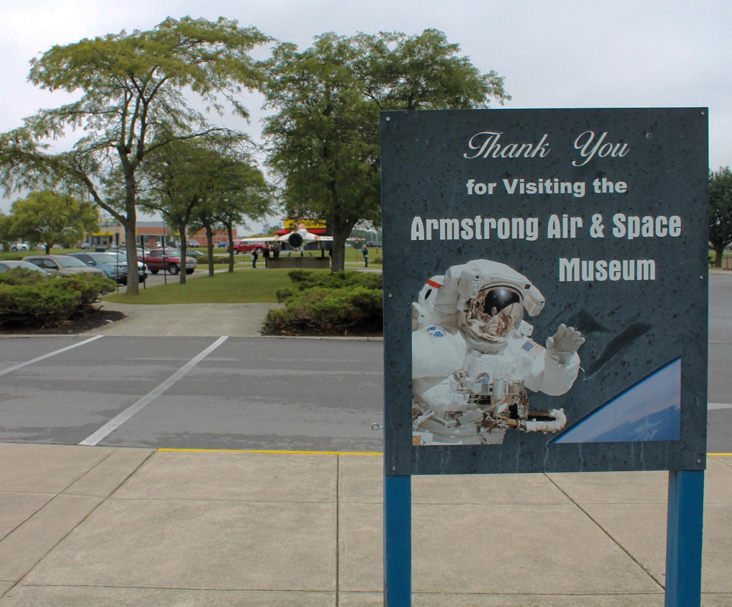 "The Armstrong Air and Space Museum in Wapakoneta, OH opened in 1972. It is named for Wapakoneta-native and astronaut Neil Armstrong, who famously became the first man on the moon in 1969. The museum is dedicated to preserving Armstrong's story as well as the stories of ""all Ohioans who have defied gravity."" ADDRESS: 500 Apollo Dr., Wapakoneta, OH (45895). / Image: Rose Brewington // Published: 9.12.17"