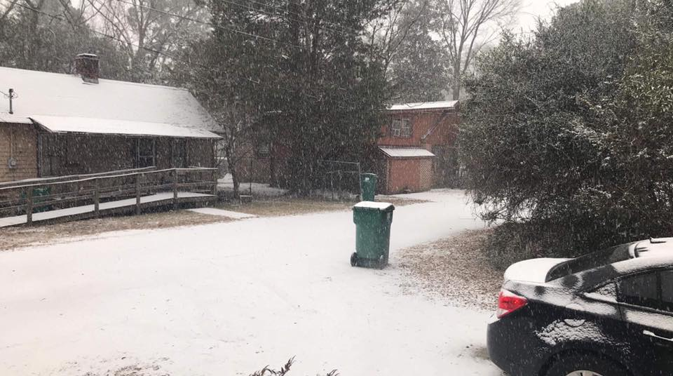 A snowy road in Cheraw{&amp;nbsp;}(Viewer Submitted photo)<p></p>