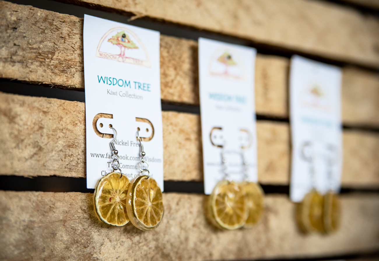 Key Lime earrings made by Di Del Pilar Cendales from her brand Wisdom Tree / Image: Melissa Sliney // Published: 6.26.19