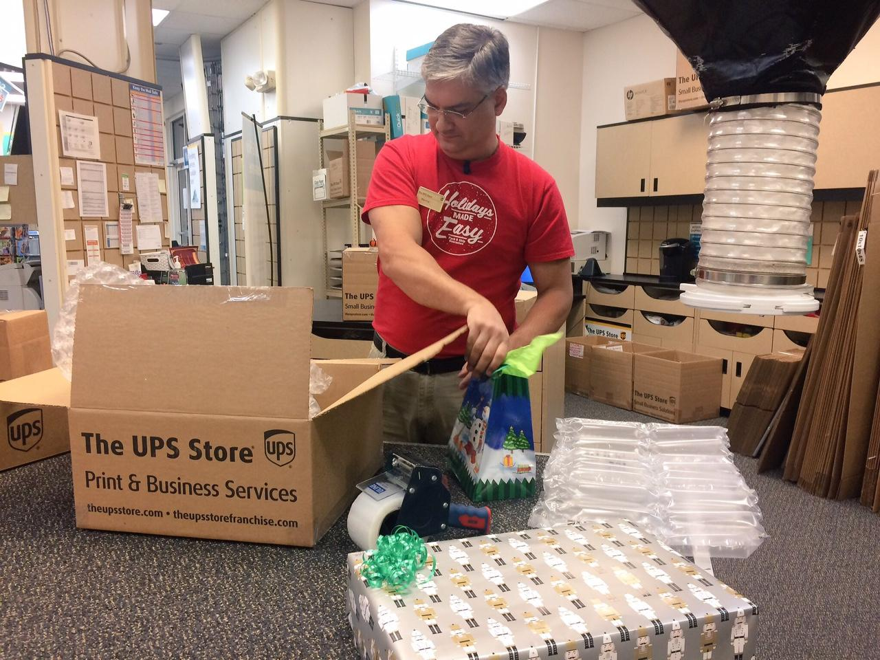 If you are shipping via UPS, you must send your packages by December 21st for them to arrive by Christmas. UPS delivery drivers will be working through Saturday, December 23rd to ensure packages arrive on time. (Photo Credit: WLOS Staff).{ }
