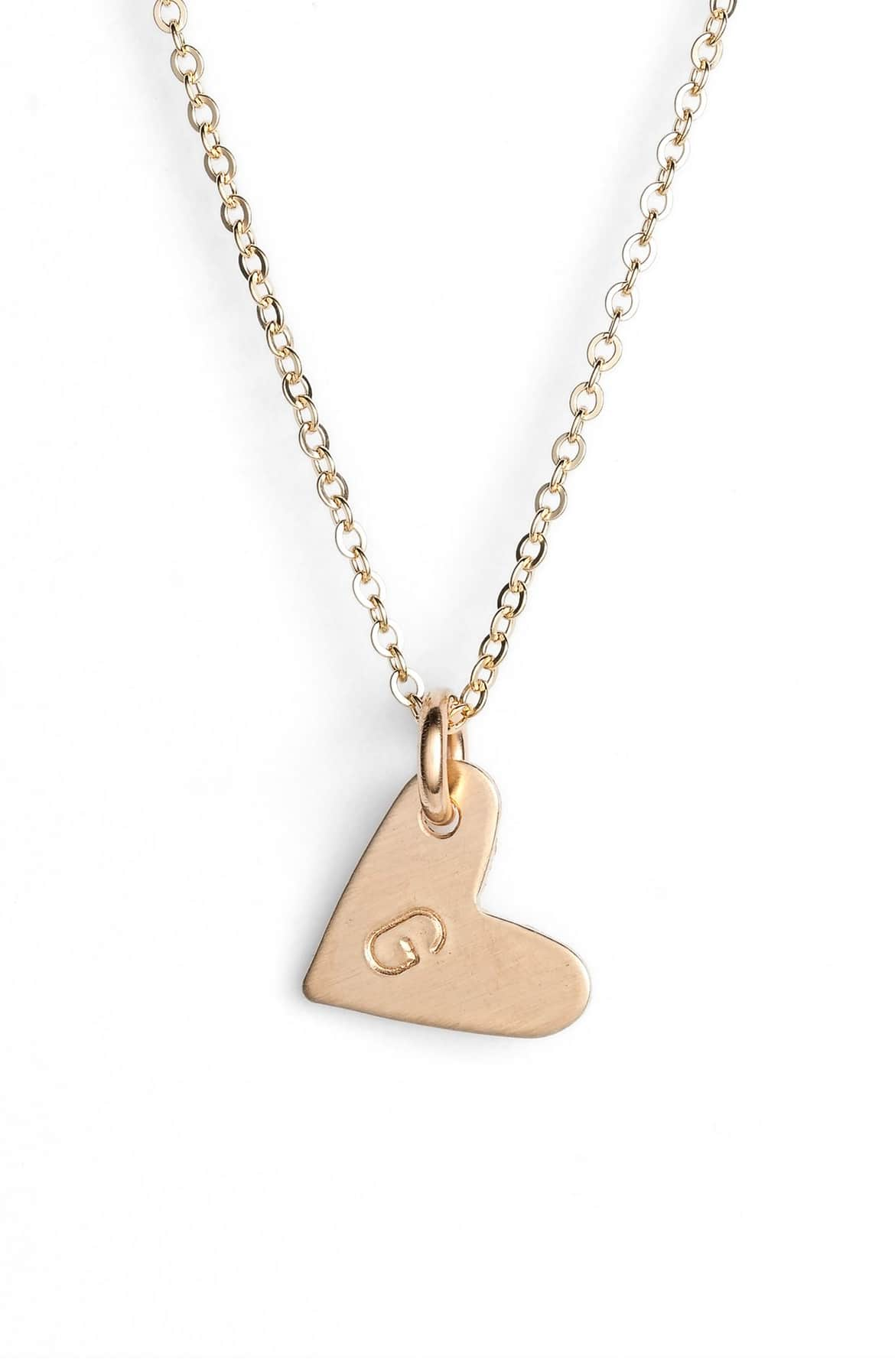 She will love this 14k-Gold Fill Initial Mini Heart Pendant Necklace. $45.00. Super sentimental.{ }(Image: Nordstrom){ }