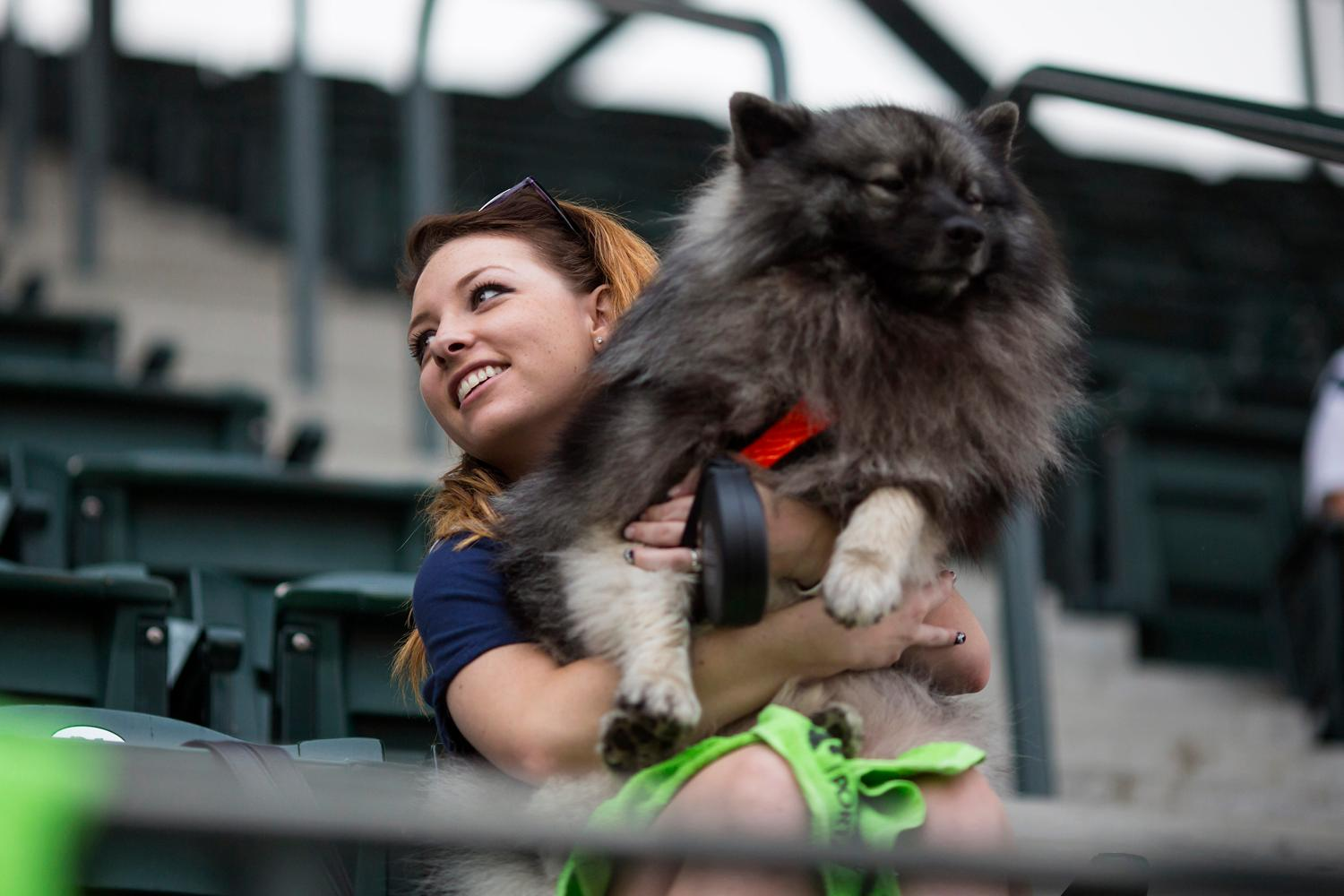 Another night of Bark In the Park at Safeco Field as Mariners fans got to take their four-legged friends to watch the game against the Houston Astros. (Sy Bean / Seattle Refined)