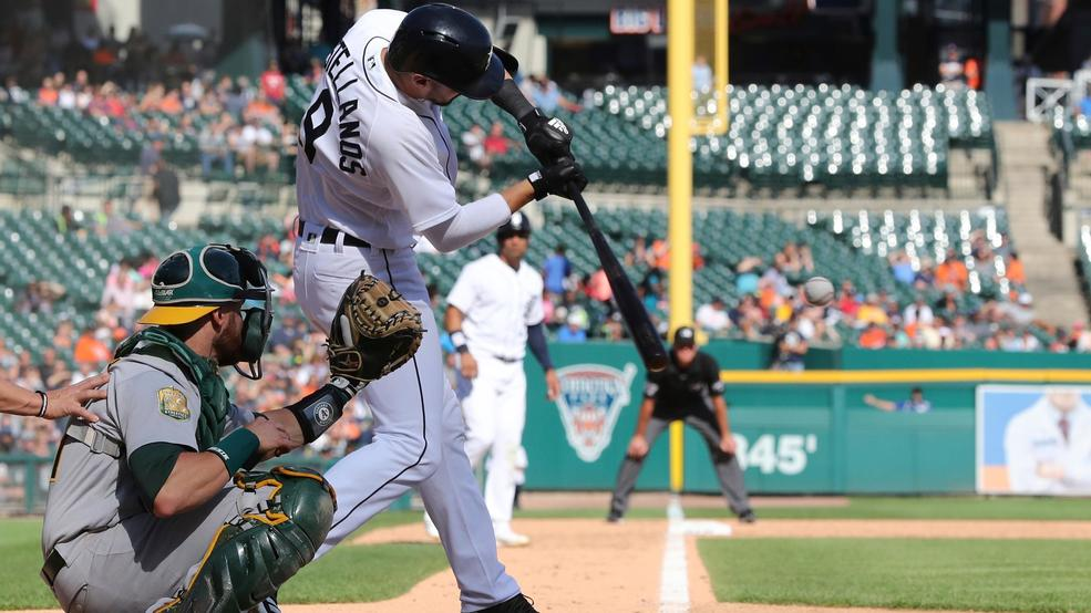 Lowrie, A's rally from 6 down to beat Tigers 9-7 | WEYI