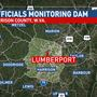 West Virginia regulators monitoring collapsed section of dam in Harrison County