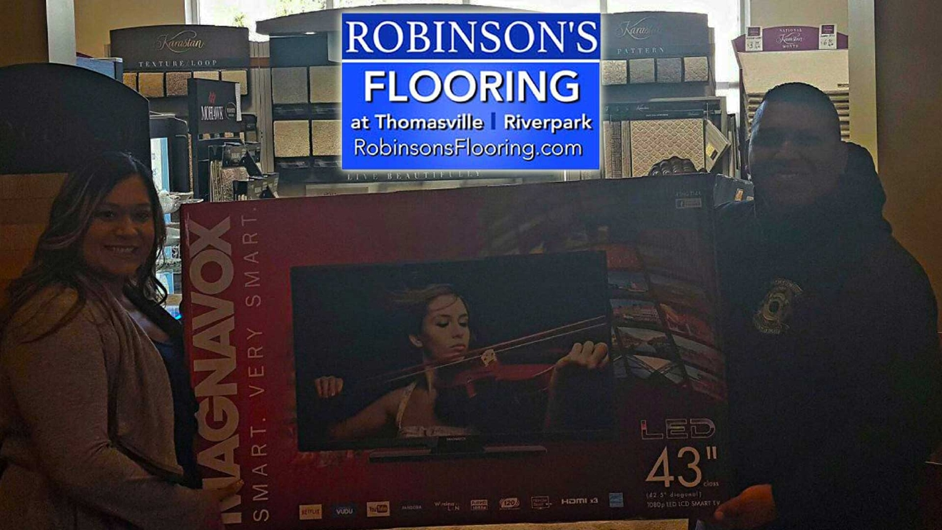 A new Big Screen TV from Robinson's Flooring at Thomasville Riverpark