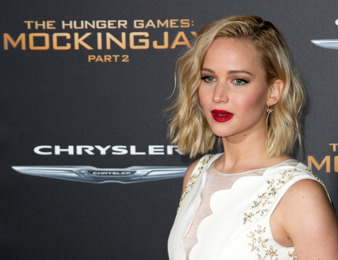 "Celebrities attend Premiere Of Lionsgate's ""The Hunger Games: Mockingjay - Part 2"" at Microsoft Theater.  Featuring: Jennifer Lawrence Where: Los Angeles, California, United States When: 17 Nov 2015 Credit: Brian To/WENN.com"