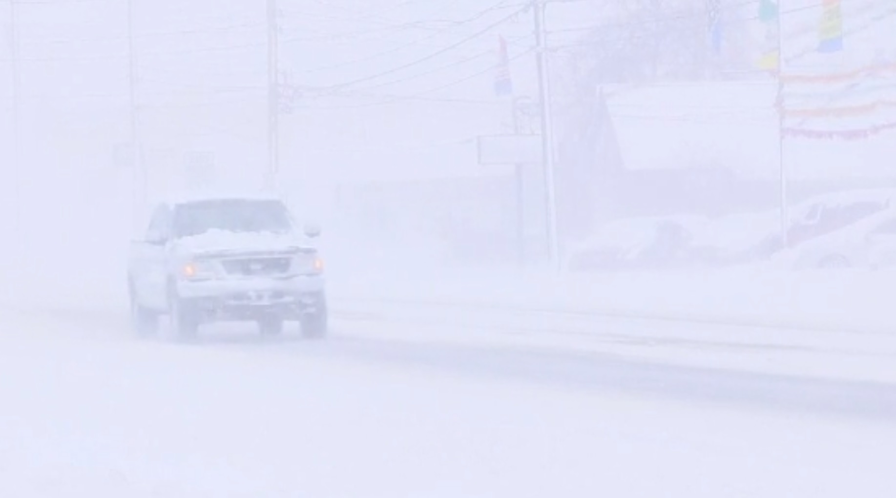 Record two-day snowfall covers Erie, Pennsylvania. (Image credit: WJET via CNN Newsource)