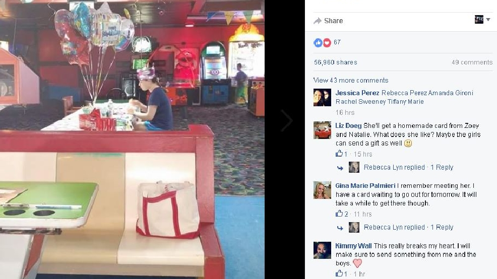 Photo Of Maine Teen Sitting Alone At Her Birthday Party Goes Viral