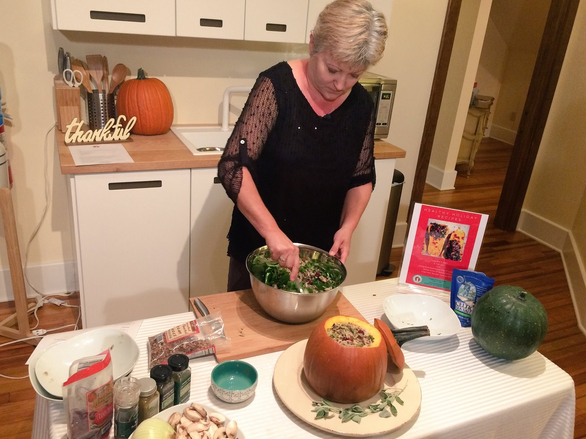 Eating healthy during the holidays, roasted stuffed pumpkin. (Photo courtesy: WLOS staff)