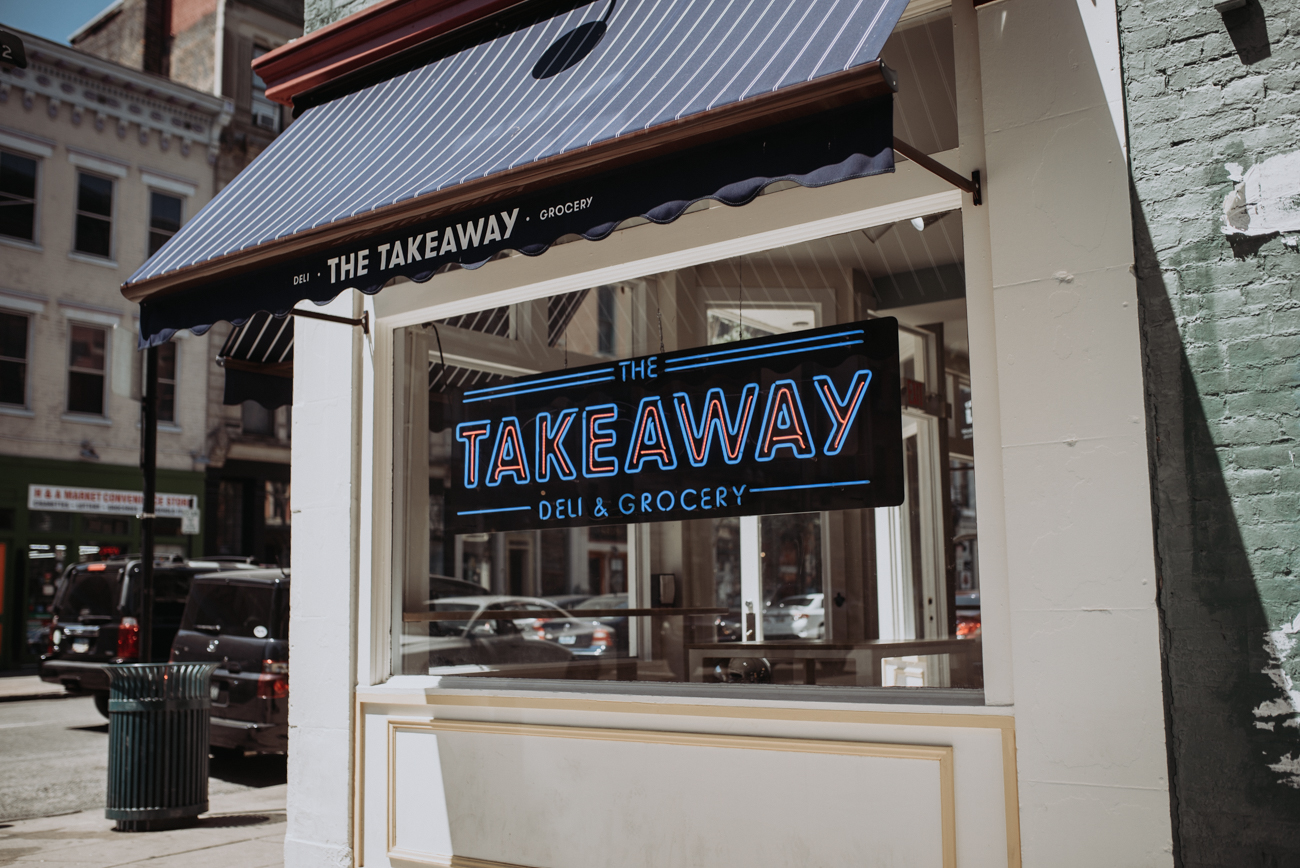 The Takeaway Deli & Grocery is a new corner shop on Main Street in Over-the-Rhine. Sandwiches are made to order, and patrons can pick up deli meats and cheeses as well as alcohol, produce, and packaged pantry foods. ADDRESS: 1324 Main St. (45202) / Image: Brianna Long // Published 5.5.18