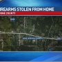 Robbery suspects strikes resident, steal firearms during home invasion