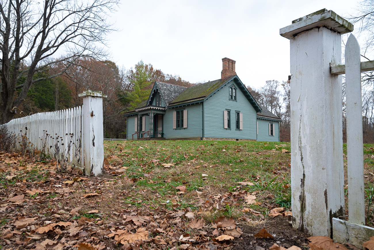 The Elk Lick House was one of the first historic structures Heritage Village brought to Sharon Woods.{ }/ Image: Phil Armstrong, Cincinnati Refined // Published: 12.5.19