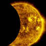 WATCH: Moon passes in front of sun in partial solar eclipse